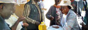 Pasar lokal di Shashe, Zimbabwe