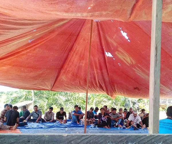 Salah satu sudut Balai Pertemuan yang dihadiri oleh petani SPI dalam Sosialiasi TORA (Tanah Obyek Reforma Agraria)