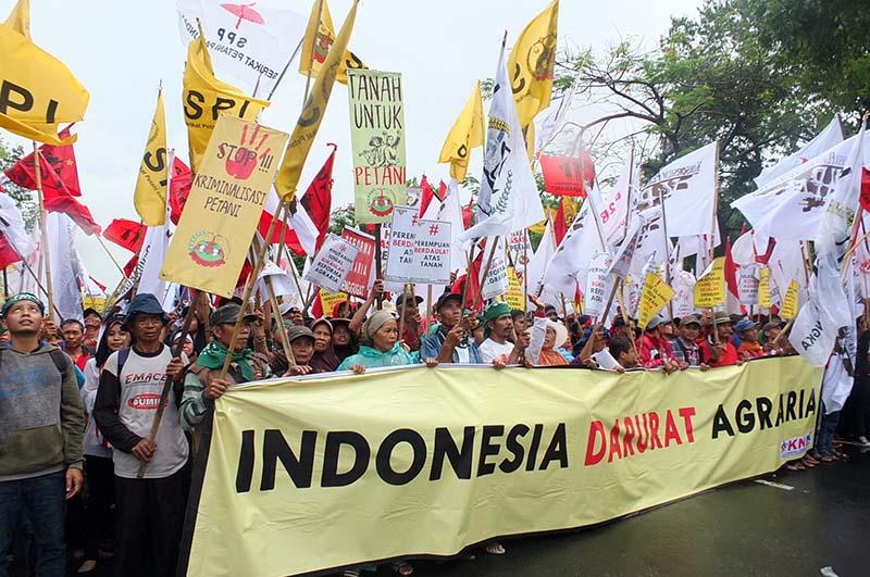 Puncak aksi Hari Tani Nasional (HTN) 2017 di Jakarta